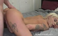 Slutty hot stepsis fucked tough