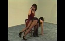 Nice brunette spanked