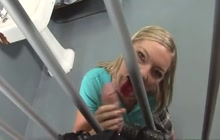 Schoolgirl stuck in jail