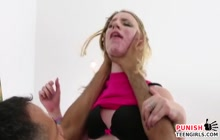 Teen blondie with big booty getting fucked hard